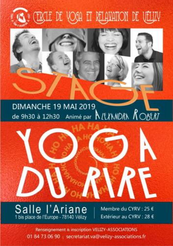 CYRV yoga du rire stage 2019-05-19 Affiche