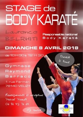 Affiche stage Body Karate