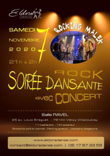 Affiche soirée concert